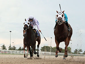 Dual Exhauzt wins the 2012 Kenny Noe Jr. Handicap.