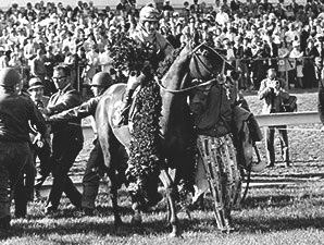 Dust Commander wins the 1970 Kentucky Derby.