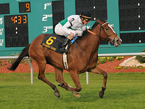 Dynamic Holiday wins the 2011 Florida Oaks.