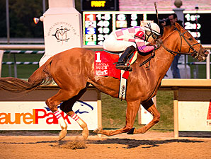 Eighttofasttocatch wins the 2013 Maryland Million Classic Stakes.