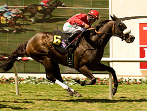 Enriched wins the 2010 Del Mar Mile.