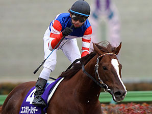 Espoir City wins the 2010 February Stakes at Tokyo.