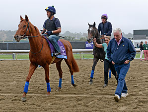 Fantastic Moon with trainer Jeremy Noseda, Breeders' Cup 2012