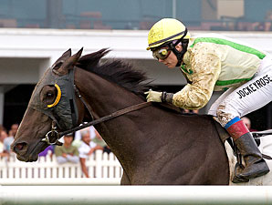 Fascinatin' Rhythm wins the 2010 Jameela Stakes.