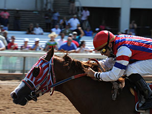 Foreign Production wins the 2010 Louisiana Cup Sprint Stakes.