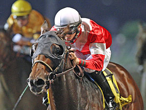 Fort Larned wins the 2012 Prairie Meadows Cornhusker Handicap.