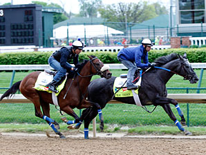 Frac Daddy and Java's War work at Churchill Downs April 27.