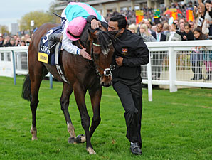 Frankel wins the QIPCO Champion Stakes.