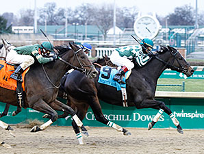 Frivolous wins the 2014 Falls City Handicap.