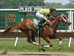 Funny Feeling wins the 2010 Just Smashing Stakes.