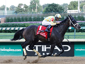 Funny Proposition wins the 2013 Fleur de Lis Handicap.