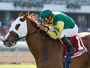 Get Serious wins the 2010 Monmouth Stakes.