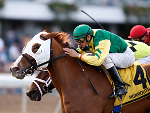 Get Serious wins the 2009 Red Bank Stakes.