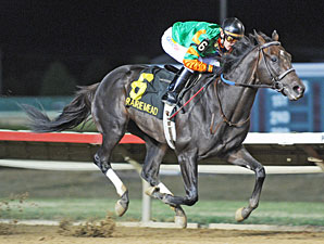 Golden Ticket wins the 2013 Prairie Meadows Handicap.