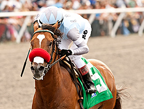 Goldencents wins the Pat O'Brien Stakes.