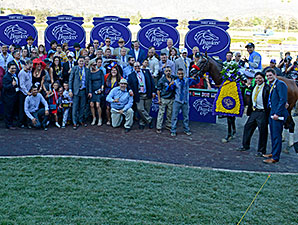 Goldencents won the 2013 Breeders' Cup Dirt Mile