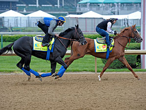 Govenor Charlie and Power Broker - Churchill Downs, April 26, 2013.