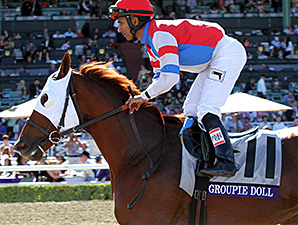 Groupie Doll in the Breeders' Cup Filly and Mare Sprint 2013.