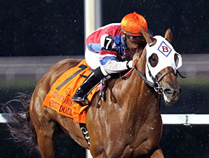 Groupie Doll wins the 2012 Presque Isle Downs Masters Stakes.