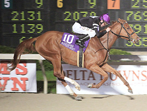 Guadalupe High wins the Night Starlet Stakes.