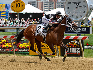 Happy My Way wins the 2014 Maryland Sprint Handicap.