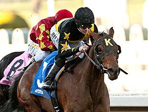 Harlington's Rose wins the 2014 Kalookan Queen Stakes.