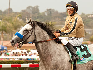 He Be Fire N Ice wins the 2013 California Dreamin' Handicap.
