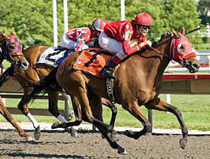 Heavenly Lass wins the 2010 Purple Violet.
