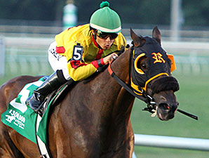 Heitai wins the 2014 Evangeline Downs Turf Sprint Stakes.