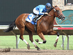Heliskier wins the 2012 Victor S. Myers Stakes.