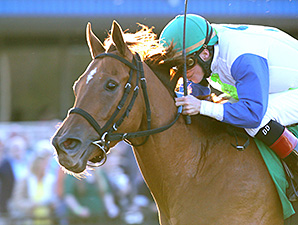 Henny Jenney wins the Inaugural Stakes.