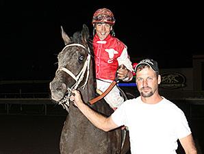 Hero On Saturday wins the 2014 Careless Navigator Overnight Stakes.