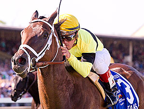 Hudson Steele wins the 2012 Dixie Stakes.