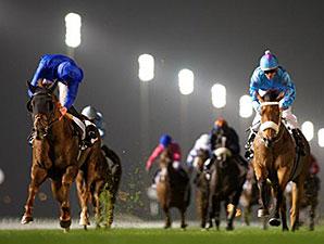 Hunter's Light wins the 2015 Dubai Millennium Stakes.