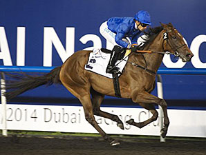 Ihtimal wins the 2014 UAE Oaks.