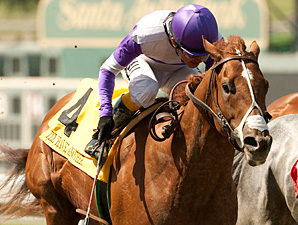 I'll Have Another wins the Santa Anita Derby.