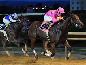 Immortal Eyes wins the 2012 Charles Town Dash.