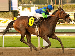 Include Me Out wins the La Canada Stakes