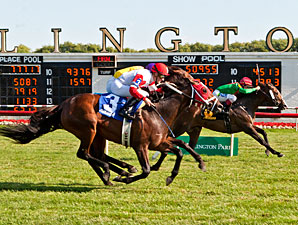 Infinite Magic wins the 2013 American Derby.