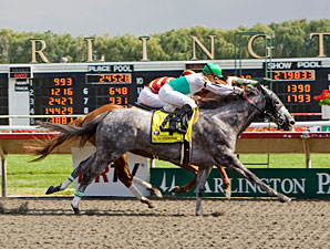 Informed Decision wins the 2010 Chicago Handicap.