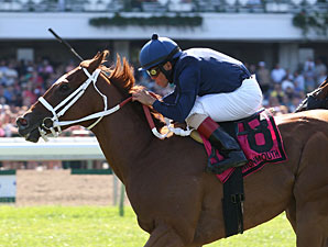 Inspired wins the 2012 Fort Monmouth Stakes.