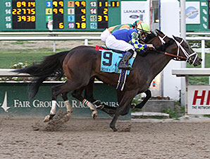 Intense Holiday wins the 2014 Risen Star Stakes.