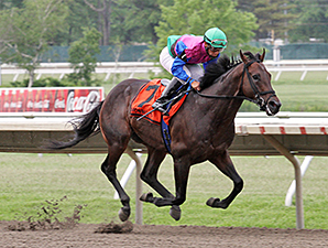 Itsmyluckyday wins the 2014 Majestic Light Stakes.