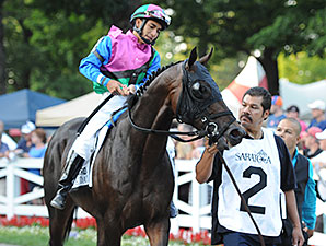 Itsmyluckyday wins the 2014 Woodward.