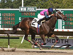 Javerre wins the 2012 New Jersey Breeder's Handicap.