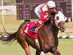 Jazzy Idea wins the 2012 Jameela Stakes.