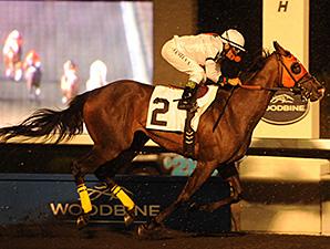 Jenna's Wabbit wins the 2012 Deputy Minister Stakes.
