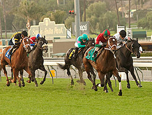 Jeranimo wins the 2014 San Gabriel.