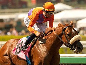 Jimmy Creed wins the 2013 Potrero Grande Stakes.