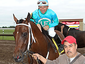 Jimmy Simms wins the 2014 Brooks Fields Stakes.